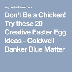 Ms not so perfect easy easter gift easter birthday party try these 20 creative easter egg ideas coldwell negle Image collections