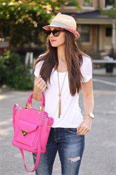 Pink Fedora by Bimba y Lola