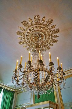 Ornate gold chandelier at Fontainebleau Royal Palace | Flickr - Photo Sharing!