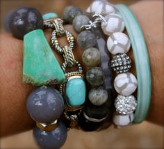 - pops of turquoise -