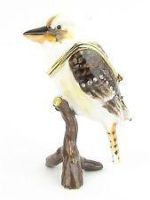 "Bird ""Kookaburra"" Jewelled & Enamelled Trinket Box or Figurine - Boxed"
