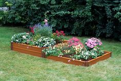raised garden bed    Two-Step Composite Raised Garden Bed, 4' x 8' - Eartheasy.com ...