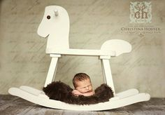I have an old rocking horse ... I'll have to try this!  Always have trouble with boy props... this is great!