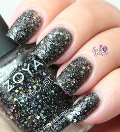 Zoya imogen - zoya wishes collection. Nail Polish Sale, Black Nail Polish, Zoya Nail Polish, Glitter Nail Polish, Nail Polish Colors, Love Nails, How To Do Nails, Pretty Nails, Textured Nail Polish