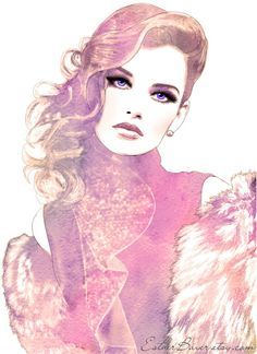 Items similar to Prestige - Glamorous Watercolor Fashion Illustration Fine Art…