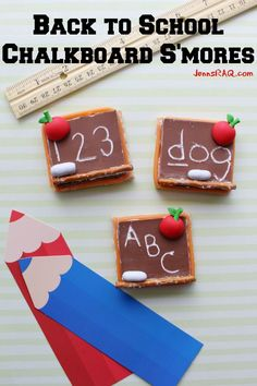 Back to School Chalkboard S'mores as seen on JennsRAQ.com
