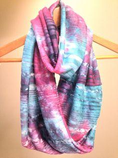 Tie Dye Infinity Scarf by SandySeaTurtle