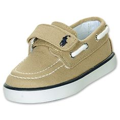 The Polo Ralph Lauren Toddler Sander EZ Shoes are ready for all-day wear at school and rough play at home. The stylish traditional shoes feature a textile upper, lace-up topline and moc-toe seaming, and rubber lug sole. The thick hook-and-loop strap makes it easy to get the shoes on an off, which is especially nice for getting dressed in the morning.