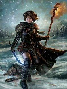 Bloody Snow of Skyrim by SirTiefling