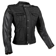 1001d806abffa 6 Speed Sister Denim Leather Jacket Womens Motocross Gear, Motorcycle  Riding Gear, Denim Motorcycle