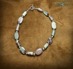 Necklace, Jasper, Mud Jasper, Sterling Silver Beads, Wounded Horse Designs. $85.00 USD, via Etsy.