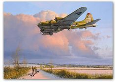 Skipper Comes Home by Robert Taylor The B-17 Skipper, one of the longest serving Fortresses of the war, returning to Thurleigh on a cold af...