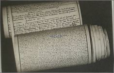 "De Sade: original manuscript (found in Bastille) of ""The 120 Days of Sodom, or the School of Libertinism"" (alternatively The School of Licentiousness)"