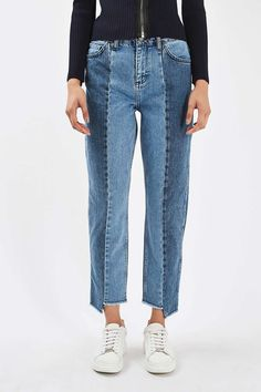 Stepped Hem Jeans by Boutique