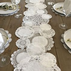 Prettie Table Runner Shab Rustic Paper Doilies Diy Weddings pertaining to proportions 900 X 900 Paper Table Runner Wedding - You could also hand applique i Doily Wedding, Wedding Paper, Rustic Wedding, Paper Doilies Wedding, Wedding Ideas, Wedding Favors, Table Wedding, Wedding Vintage, Wedding Table Runners