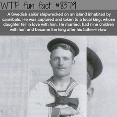 WTF Facts : funny, interesting & weird facts — Swedish sailor became a king of an Island of. Wtf Fun Facts, True Facts, Funny Facts, Funny Memes, Hilarious, Random Facts, Bizarre Facts, Strange Facts, Crazy Facts