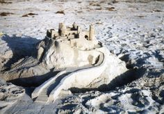 """Sand castle with a """"grand staircase."""""""