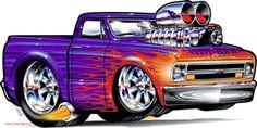 Cartoons Pickup Trucks | 1967 Chevrolet PickupCartoon