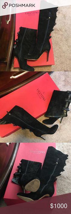 100% Authentic Valentino boots Worn 3x will take $900 via 🅿️🅿️ or cash app Valentino Shoes Heeled Boots