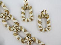 Signed Ciner Enamel Bracelet Vintage Bracelet by LadyandLibrarian, $339.00