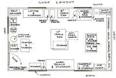 floor plan - workshop layout on pinterest | wood shops woodworking shop and  : Woodshop Floor Plans