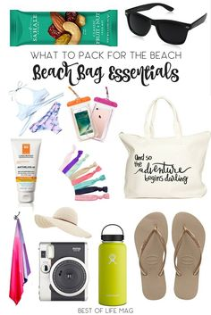 Packing for a day at the beach is easy with this list of beach bag essentials. It's all about figuring out what to pack for the beach and tossing them in your beach tote. Day at the Beach   Best Beach Bag   Beach Day Essentials   Packing List   Beach List   Beach Checklist via @AmyBarseghian