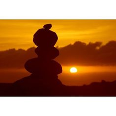 Hawaii Lanai Garden Of The Gods Pile Of Rocks Silhouetted By Dramatic Sunset Canvas Art - Ron Dahlquist Design Pics (17 x 11)