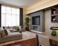 Family Room Design, Pictures, Remodel, Decor and Ideas - page 4  Like this built in idea for TV