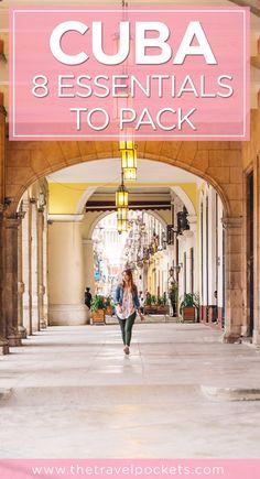 Top 8 essentials to pack for your Cuba trip | visit Living to Roam for more travel tips | livingtoroam.com