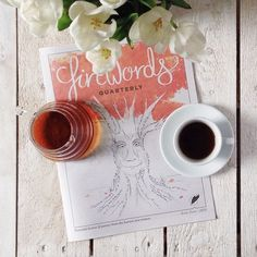 "@coffeetablemags's photo: ""Good morning friday with Firewords Quarterly, Issue Zero! It's a nice magazine/paper filled with fiction and poetry. #firewords #coffeetablemags #hamburg #vscocam #coffeediary"""