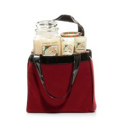 Red Velvet Tote in Holiday 2 2012 from Yankee Candle on shop.CatalogSpree.com, my personal digital mall.