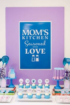 Mother's Day kitchen party! See more party planning ideas at CatchMyParty.com!