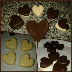 Chocolate truffles filled with dulce de leche