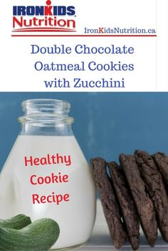 Healthy Cookie Recipe with Zucchini _PIN School Snacks For Kids, Healthy School Snacks, Healthy Kids, Healthy Cookie Recipes, Diet Soup Recipes, Healthy Cookies, Sugar Free Gum, Chocolate Oatmeal Cookies, How To Double A Recipe