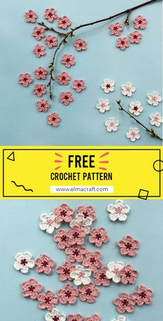25 Beginner Flower Crochet Projects – Which One Is Your Favorite? Crochet Flower Tutorial, Crochet Flower Patterns, Crochet Motif, Crochet Flowers, Crochet Stitches, Crochet Leaves, Crochet Crafts, Crochet Projects, Crochet Vintage