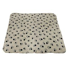 Pet Puppy Dog Cat Animals Soft Blanket Large Thick Fleece Doubleside Cute Paw Claw Print Pet Kitten Bed Mat Cover Warm Bathing Shower Dry Wrap Towel Sleep Quilt 394 x 276 inch *** Read more  at the image link.