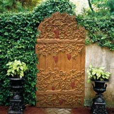 Carved Vines Beautiful Garden Gate , Beautiful Garden Gate In Garden And Lawn Category