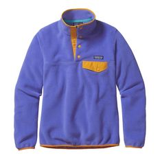 Patagonia Womens Lightweight Synchilla Snap-T Fleece Pullover Violet Blue