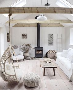 Minimalist Home With Blue and Yellow Accent Sandi style Minimalist home decor living rooms couch Living Room Decor, Living Spaces, Dog Spaces, Coastal Living Rooms, Dining Room, Minimalist Home Decor, Cottage Interiors, Lake Cabin Interiors, White Interiors