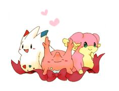 Corsola, Togekiss and Audino