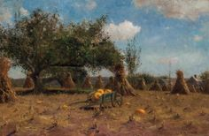 """""""October in New England,"""" Dwight William Tryon, 1881, oil on canvas, 20 x 30"""", private collection."""