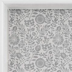 Scandi Floral Grey Daylight Roller Blind | Dunelm Resin Coating, Roller Blinds, Home Accessories, Floral Design, Tapestry, Grey, Modern, Pattern, Model