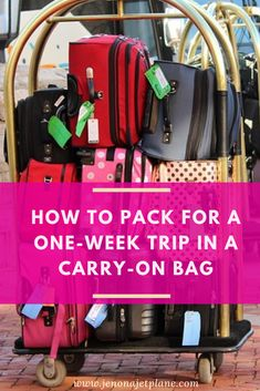 pack for one week in one carry-on bag? These packing tips will have you traveling comfortably with a carry-on only. Travel wisely with these smart packing hacks and packing tips for vacations! Save to your travel board for future reference. Smart Packing, Carry On Packing, Suitcase Packing, Packing Hacks, Carry On Bag, Packing Lists, College Packing, Europe Packing, Traveling Europe