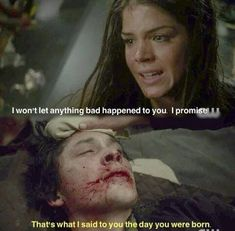The 100 - Bellamy & Octavia Blake such a loving moment between brother and sister he is sick and not feeling good says his scared and little sis is by his side and cares for her big bro Best Tv Shows, Best Shows Ever, Movies And Tv Shows, The 100 Cast, The 100 Show, The 100 Serie, Bellamy The 100, The 100 Quotes, 100 Memes