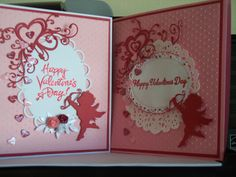 My first two Valentines for this year. I adore the IO cupids and heart flourish. SUEBEECARDS! Susan P. Bagley