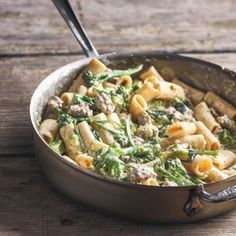 Sunday Supper: Rigatoni With Broccoli and Sausage Sausage Rigatoni, Broccoli Pesto, Broccoli Florets, Risotto, Homemade Pesto Sauce, Ricotta Pasta, Sunday Suppers, Al Dente, Healthy Recipes