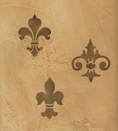 Old-World-Tuscan idea:  Faux wall add decorative stencils