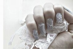 Lace Nails | 24 Delightfully Cool Ideas For Wedding Nails