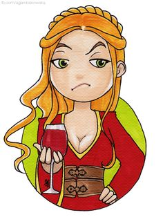 Cersei by Robakowska Game Of Thrones Houses, Hbo Game Of Thrones, Cercei Lannister, Casterly Rock, George Rr Martin, Cersei, Character Art, Princess Zelda, Songs