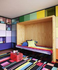 colorful kid's bedroom #decor #colors #bedrooms #quartos #kids